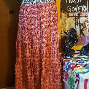 Long boho style skirt